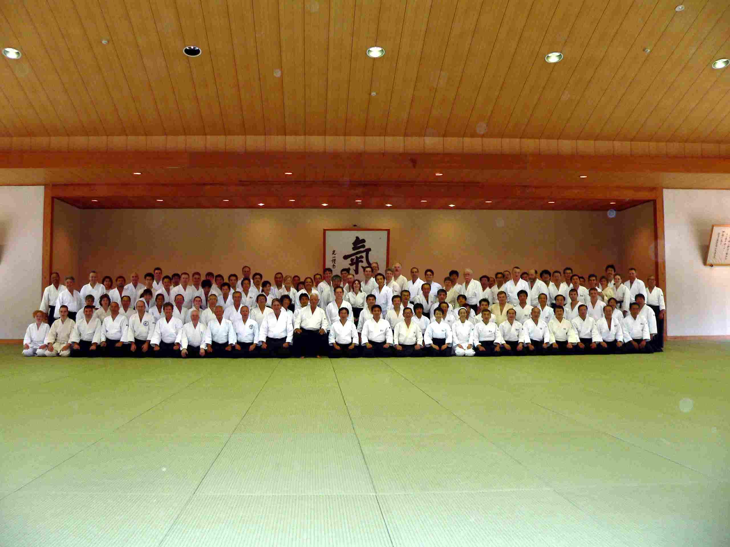 Group photo at Ki Society H.Q. Japan
